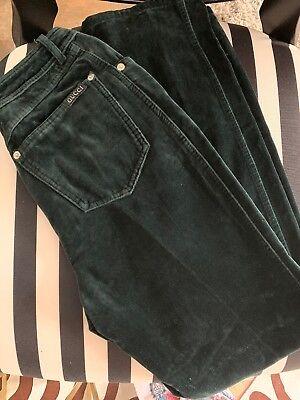 Vintage Gucci Hunter Green Velevet Straight Leg Jeans 24/25