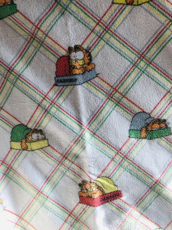 "CHATHAM Garfield Blanket Throw Comforter 66"" x 90"" Twin 100% Polyester Vintage"