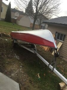 12 foot aluminum boat, motor and trailer package