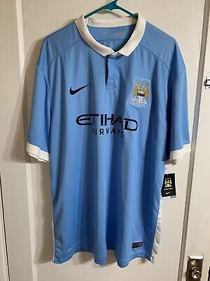 NEW NIKE Authentic 2015 Manchester City FC Mens 3XL Nike Soccer Jersey MCFC B4 image
