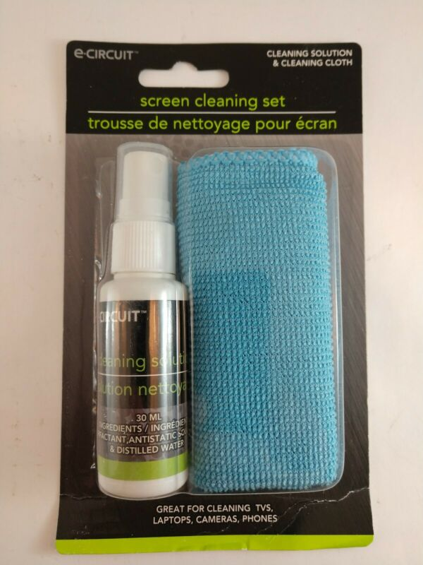 Screen Cleaner Kit w Soft Fiber Cloth & Cleaning Spray lcd smartphone laptop TV
