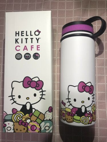 Hello Kitty - Brand New in Box Hello Kitty Cafe Exclusive Thermal Thermos Bottle 18 oz