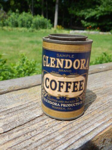 Antique Glendora Coffee Sample Size Tin Litho Advertising Very Nice