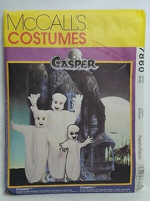 Kid Friendly Adult Costumes (McCalls Sewing Pattern 7860 Casper Friendly Ghost for Kids & Adults -)