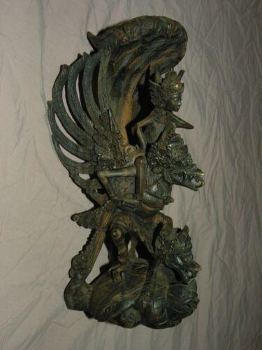 Antique Garuda Statue Wood Carving Master Carver Amazing Detail Bali Indonesia