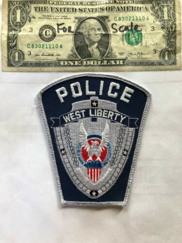 West Liberty Iowa Police Patch pre-sewn good shape