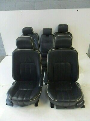RANGE ROVER L322 SET OF 5 ELECTRIC BLUE LEATHER SEATS 2002 - 2006