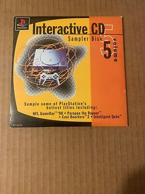 Playstation Interactive CD Sampler Disk Volume 5 Sony PS1 Complete w Sleeve 1