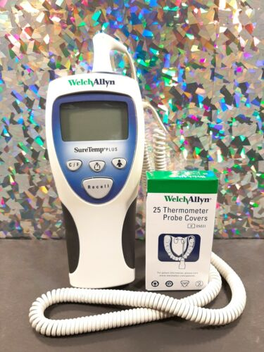 WELCH ALLYN SURETEMP PLUS Handheld Digital Thermometer 692 WITH PROBE COVERS!