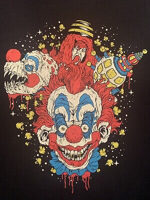 OOP FRIGHT RAGS Killer Klowns From Outer Space Shirt LG Horror Halloween Clowns