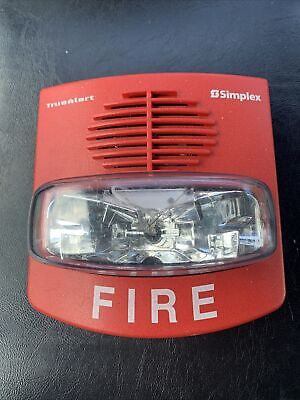 Simplex 4906-9127 Truealert Fire Alarm Horn Strobe Red