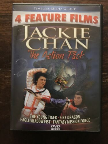 Jackie Chan 4 Full Length Feature Films The Action Pack DVD Set - $8.99