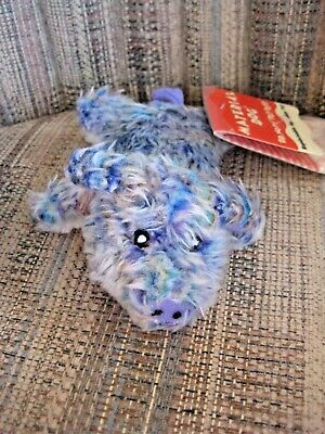 Dr. Noys' Material Small Purple Speckled Pig Dog Pet Toy NWT Squeaks