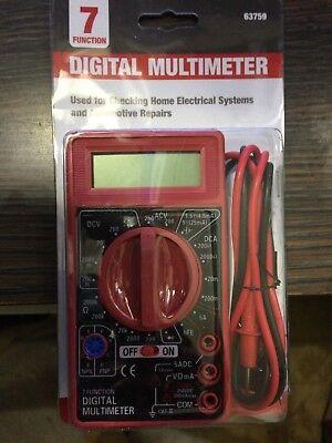 Cen-tech 7 Function Multimeter Digital Meter Multitester Amp Ohm Volt