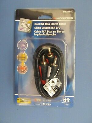 Monster RCA Cable 6 Foot long  # 140289-00  Audio   NEW (Audio Cable 6 Foot)