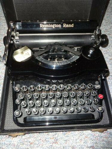 Antique Remington Rand Model 1 Portable Typewriter With Case