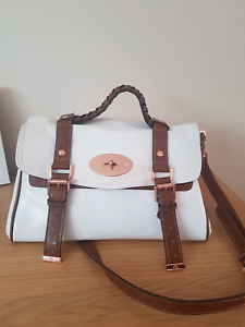 MULBERRY white brown leather shoulder bag RRP1499 Docklands Melbourne City Preview