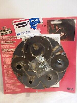 Vermont American Router Guide Bushing Kit Model 23458 New Unopened