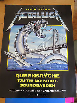 Bill Graham Presents Metallica Day on the Green Poster
