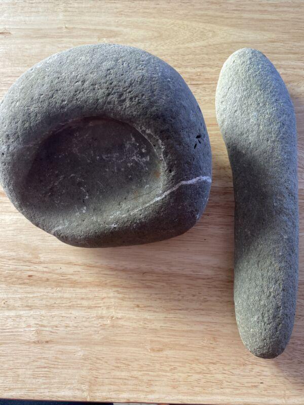 Northern California Mortar Pestle Native American Indian Grinding Unknown Era
