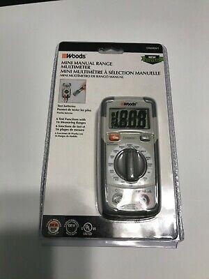 Woods Dmmw1 Mini Manual Range Multimeter New
