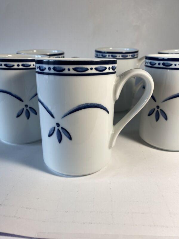 DANSK, Norwegian Blue, Bistro Cafe, Coffee Mug set of 6