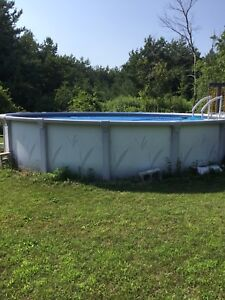 Resin above ground pool 18 ft. Round