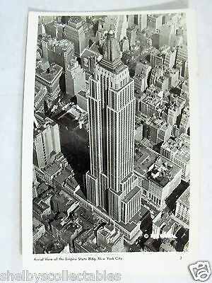 Rppc Nyc Ny Aerial View Of Empire State Bldg  New York City  Real Photo Postcard