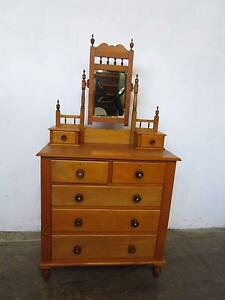 C43047 Lovely Kauri Pine Duchess Dressing Table Circa 1900 Mount Barker Mount Barker Area Preview