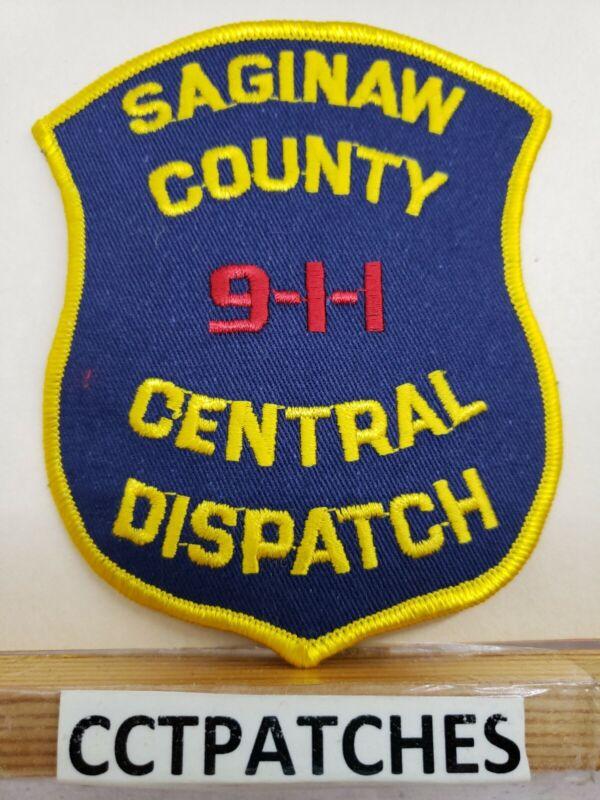 SAGINAW COUNTY, MICHIGAN CENTRAL DISPATCH POLICE FIRE EMS 911 SHOULDER PATCH MI