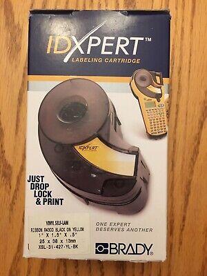Brady Idxpert Label Cartridge Vinyl Self-lam Black On Yellow Xsl-31-427-yl-bk