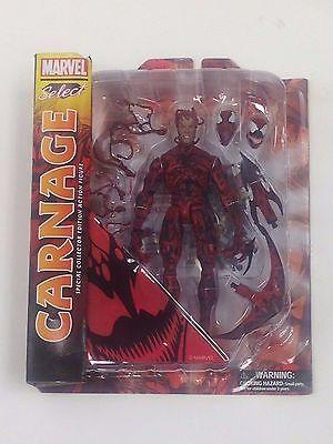 CARNAGE & VENOM MARVEL SELECT SPIDER-MAN VILLAIN SYMBIOTE ACTION FIGURE SET OOP