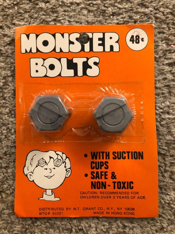 Vintage Monster Bolts Frankenstein Halloween Accessory Sealed MOC Ben Cooper