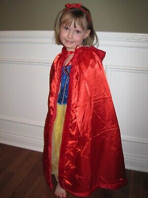 NEW Hooded RED PRINCESS CAPE with DEFECT Halloween Costume Birthday Gift cloak](Red Cape With Hood)