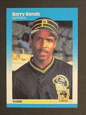 1987 Fleer Barry Bonds Pittsburgh Pirates Rookie Card  604
