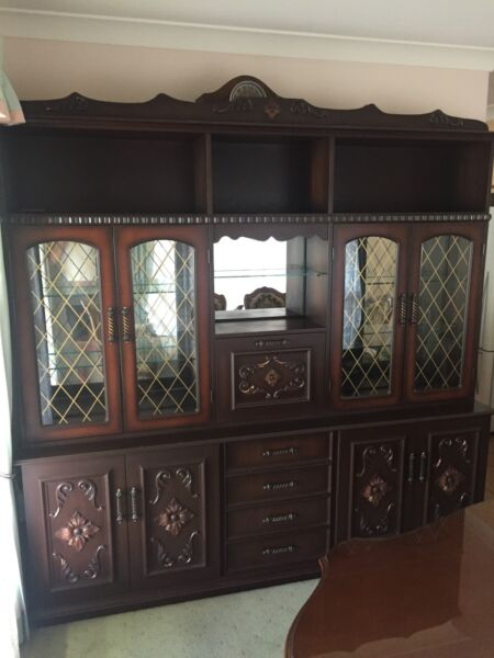 Solid Timber Wall Unit - 3 Piece   Cabinets   Gumtree Australia ...