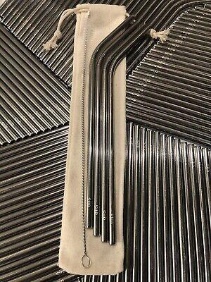 Metal Straw Set Stainless Steel Reusable Metal Straws (5PCS)