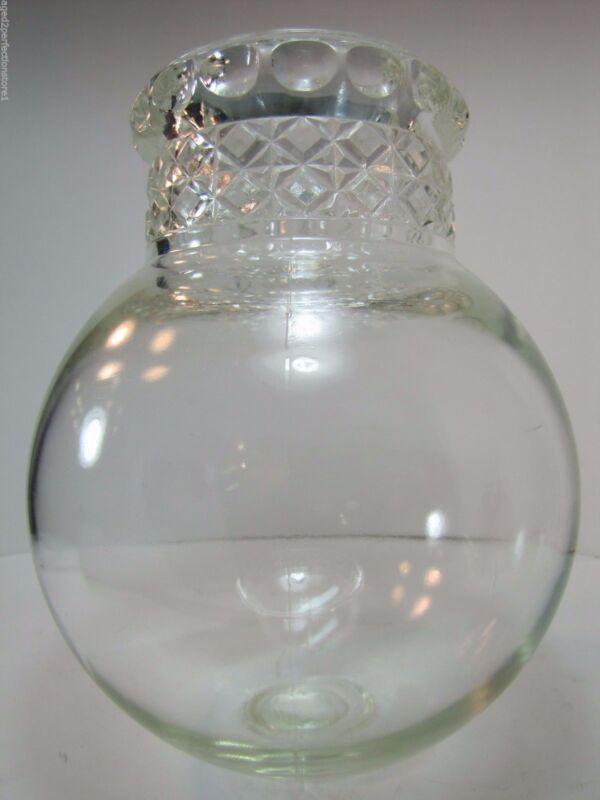 Antique Apothecary Candy Jar round bottom drug store pharmacy thumbprint diamond