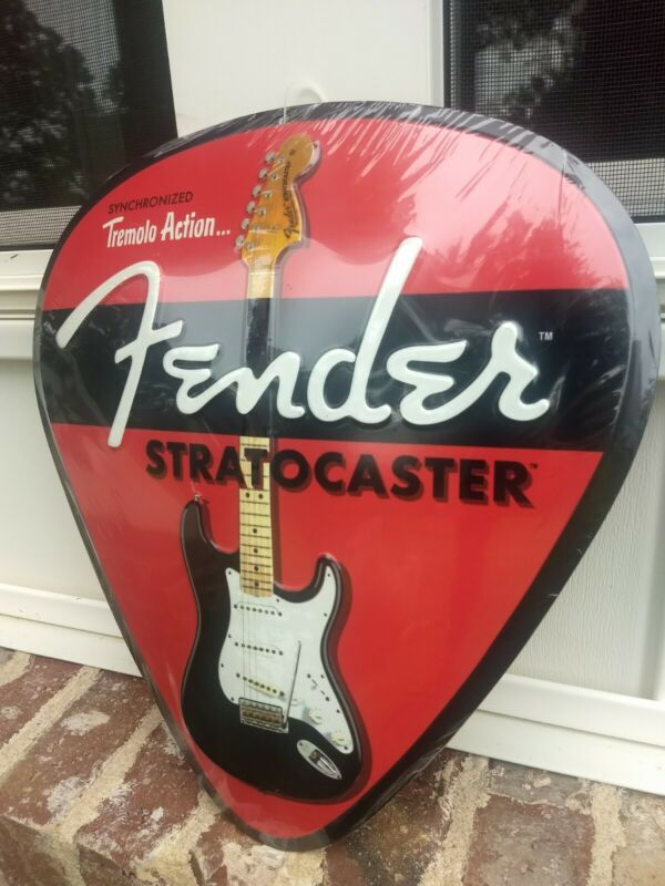 Vintage style Fender Stratocaster Guitars metal advertising Strat sign 🎸🎸🎸