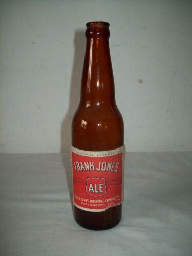 vintage Frank Jones Portsmouth Nh 12 oz  beer bottle with label