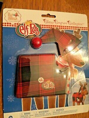 New Elf of the Shelf Pet Reindeer Pajamas PJ's Plaid Pom Pom Hat Claus Couture