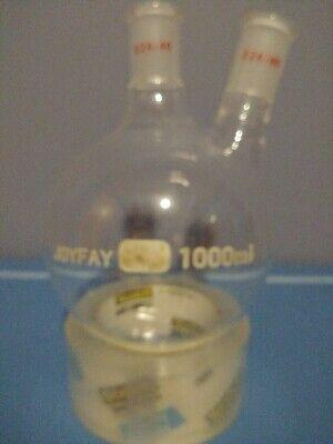 1000ml 1l 2 Neck Vertical Flask Round Bottom 2440