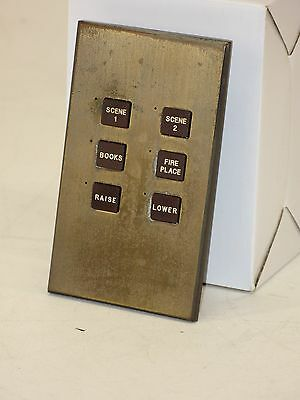 Lutron HomeWorks HWV-KP-LB6 Keypad  6-Button  (Brass)