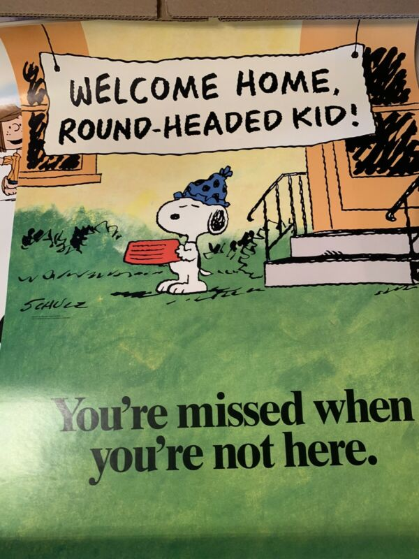 Peanuts Snoopy Super Rare 17x22 Poster You're Missed