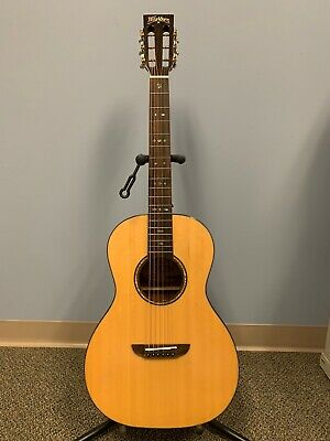 Washburn WP33SRS-L Natural & Royal Sapphire Parlor Acoustic Guitar