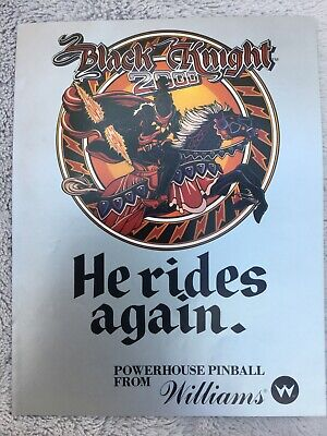 Black Knight 2000 pinball Machine flyer