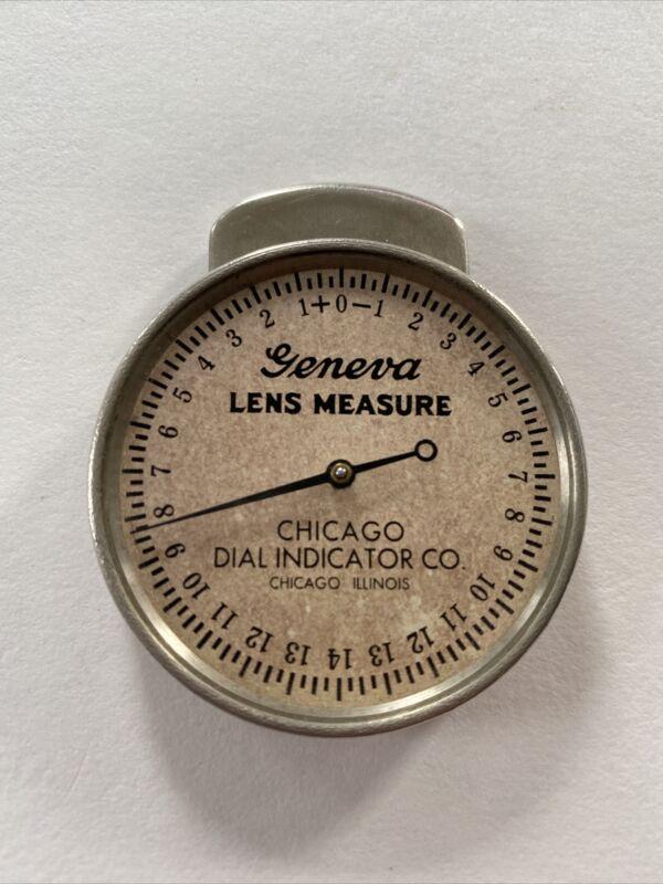 **Vintage GENEVA LENS MEASURE -  CHICAGO DIAL INDICATOR CO. - Chicago Illinois**