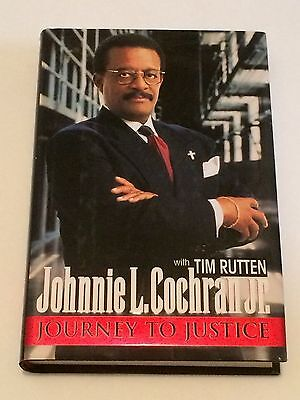 Johnnie Cochran  Jr Signed Journey To Justice 1996 Book 1St Ed  O  J  Simpson