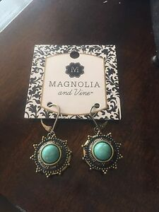 Magnolia and Vine Earrings. New