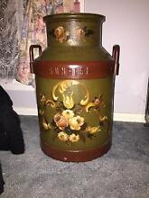 Hand painted milk can Tumut Tumut Area Preview